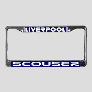 Liverpool Scouser Blue Lcnse Plate Frame