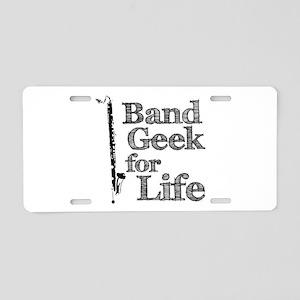 Bass Clarinet Band Geek Aluminum License Plate