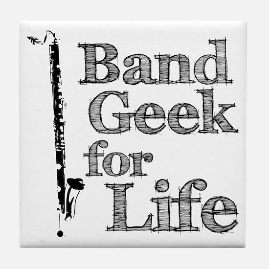 Bass Clarinet Band Geek Tile Coaster