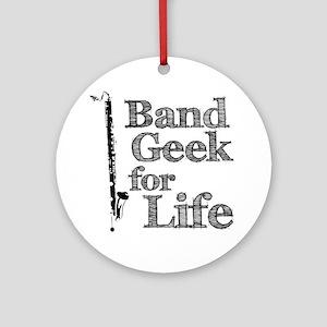 Bass Clarinet Band Geek Ornament (Round)