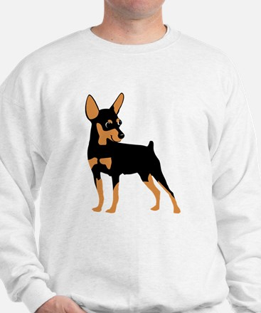 Cartoon Miniature Pinscher 1 Sweatshirt