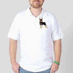Cartoon Miniature Pinscher 1 Golf Shirt