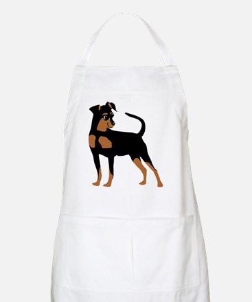 Cartoon Miniature Pinscher 2 Apron