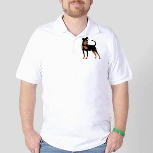 Cartoon Miniature Pinscher 2 Golf Shirt
