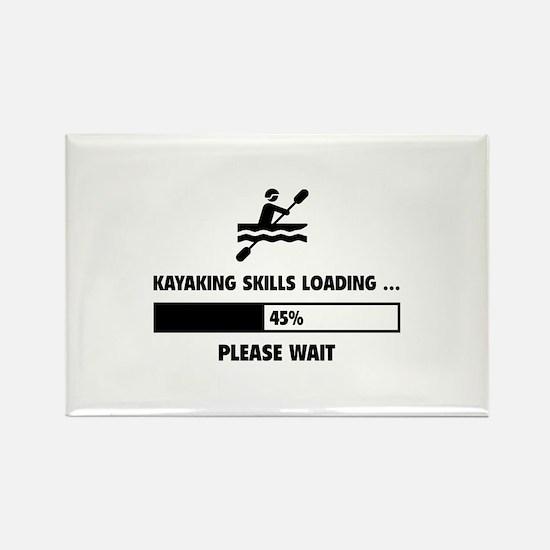 Kayaking Skills Loading Rectangle Magnet