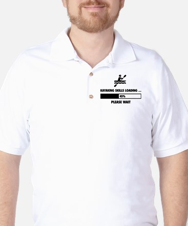 Kayaking Skills Loading Golf Shirt