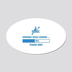 Kayaking Skills Loading 22x14 Oval Wall Peel