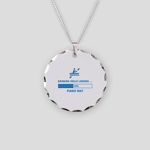 Kayaking Skills Loading Necklace Circle Charm