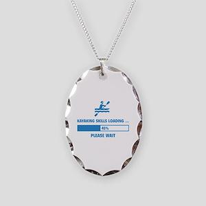 Kayaking Skills Loading Necklace Oval Charm