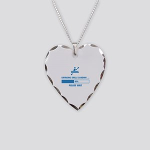 Kayaking Skills Loading Necklace Heart Charm