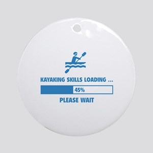 Kayaking Skills Loading Ornament (Round)