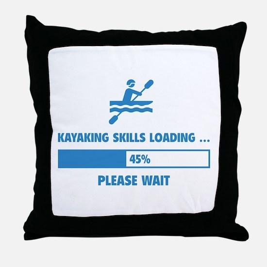 Kayaking Skills Loading Throw Pillow