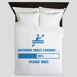Kayaking Skills Loading Queen Duvet