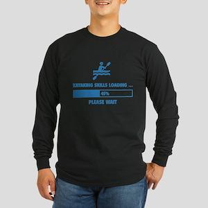 Kayaking Skills Loading Long Sleeve Dark T-Shirt