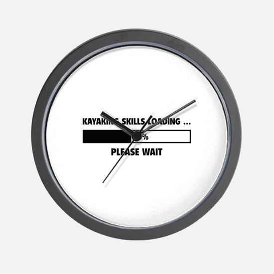 Kayaking Skills Loading Wall Clock