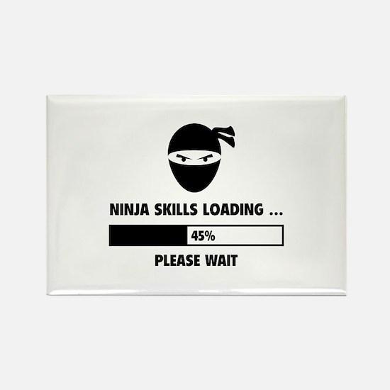 Ninja Skills Loading Rectangle Magnet