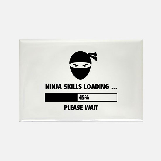 Ninja Skills Loading Rectangle Magnet (10 pack)