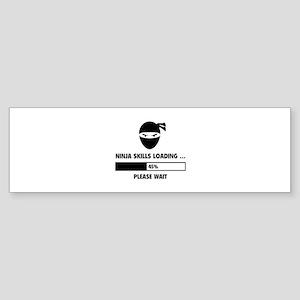 Stars bars bumper stickers cafepress ninja skills loading sticker bumper reheart Choice Image