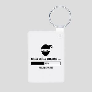 Ninja Skills Loading Aluminum Photo Keychain