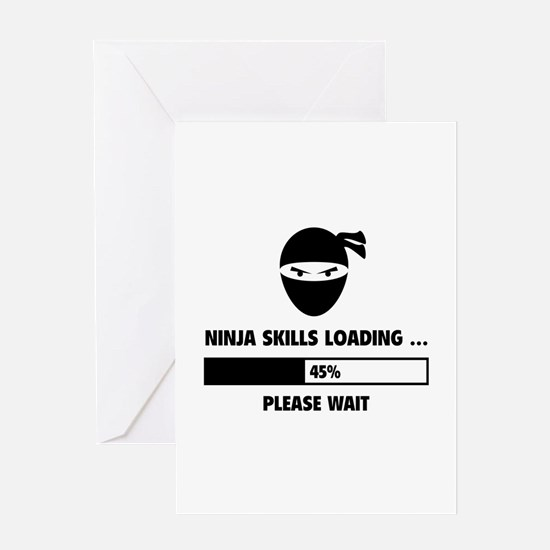 Ninja Skills Loading Greeting Card