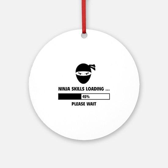 Ninja Skills Loading Ornament (Round)