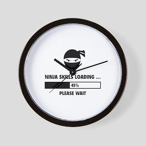 Ninja Skills Loading Wall Clock
