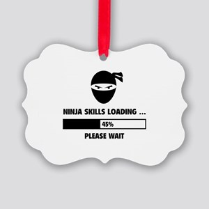Ninja Skills Loading Picture Ornament