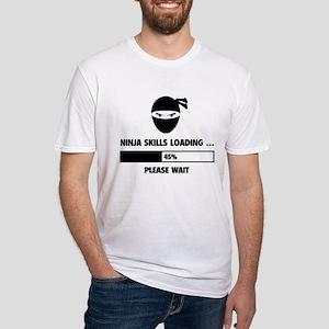 Ninja Skills Loading Fitted T-Shirt