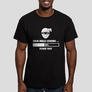 Ninja Skills Loading Men's Fitted T-Shirt (dark)
