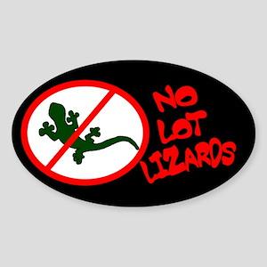 No Lot Lizards Oval Sticker