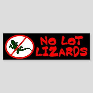 No Lot Lizards Bumper Sticker
