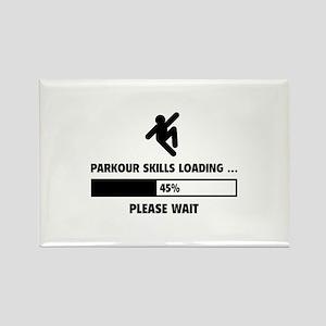 Parkour Skills Loading Rectangle Magnet