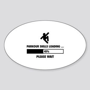 Parkour Skills Loading Sticker (Oval)