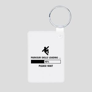 Parkour Skills Loading Aluminum Photo Keychain