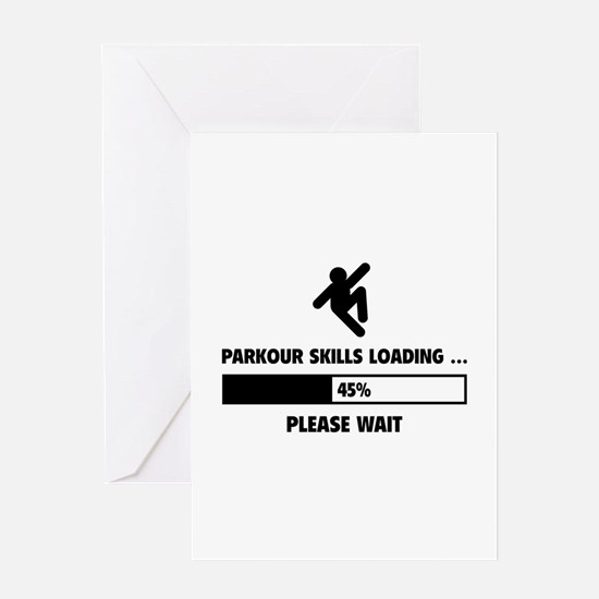 Parkour Skills Loading Greeting Card