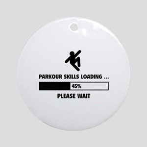 Parkour Skills Loading Ornament (Round)