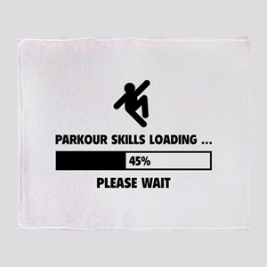 Parkour Skills Loading Throw Blanket