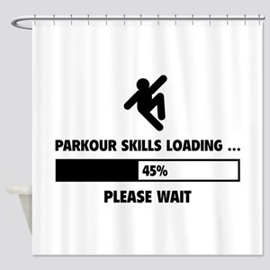 Parkour Skills Loading Shower Curtain