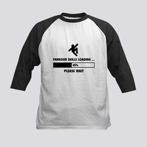 Parkour Skills Loading Kids Baseball Jersey