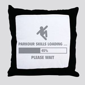 Parkour Skills Loading Throw Pillow
