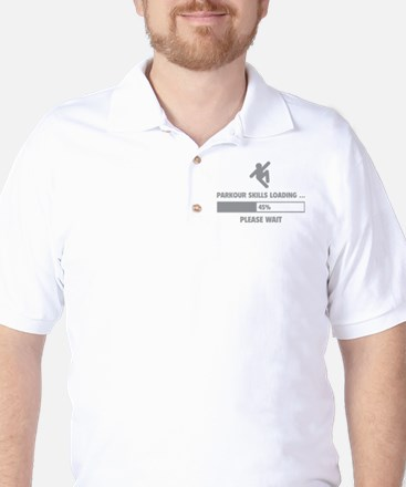 Parkour Skills Loading Golf Shirt