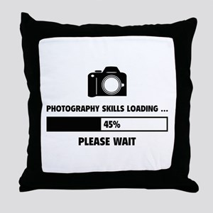 Photography Skills Loading Throw Pillow