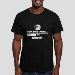 Racing Skills Loading Men's Fitted T-Shirt (dark)