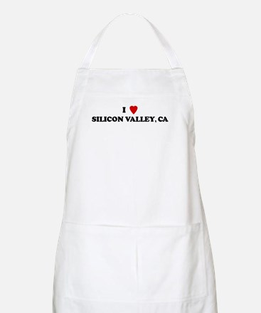 I Love SILICON VALLEY BBQ Apron