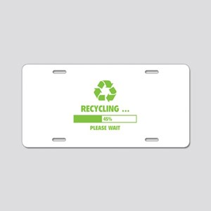 RECYCLING ... Aluminum License Plate