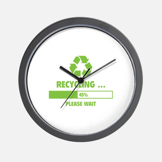 RECYCLING ... Wall Clock
