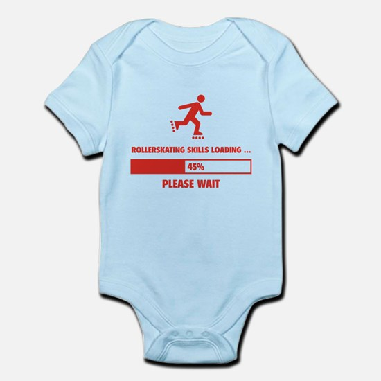 Rollerskating Skills Loading Infant Bodysuit