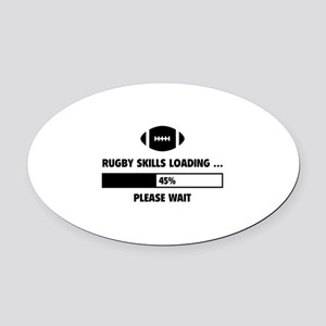 Rugby Skills Loading Oval Car Magnet