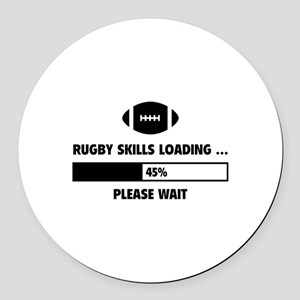 Rugby Skills Loading Round Car Magnet