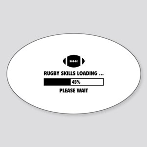 Rugby Skills Loading Sticker (Oval)